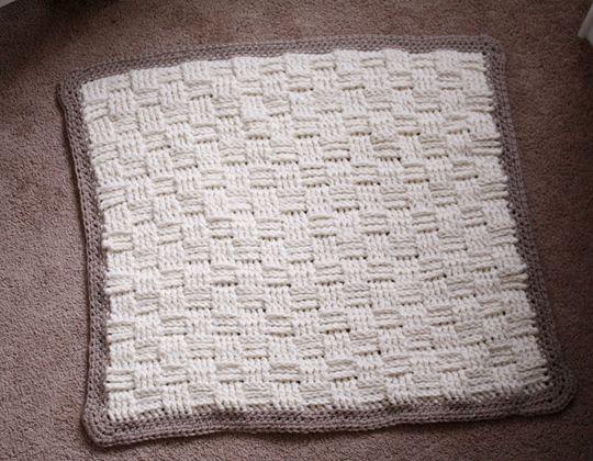 Basket Weave Crochet Baby Blanket FREE Pattern