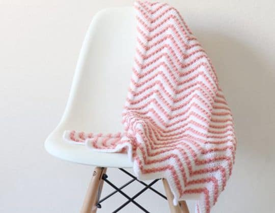 Crochet Berry Chevron Baby Blanket Pattern