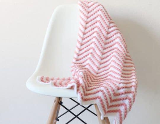 Crochet Berry Chevron Baby Blanket Pattern