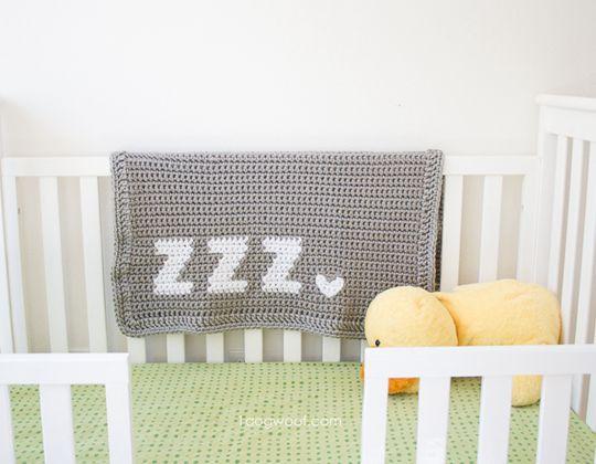 Crochet ZZZ's Crochet baby blanket Pattern