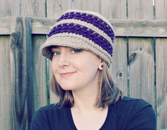 Crochet Dianna Newsboy Hat Pattern