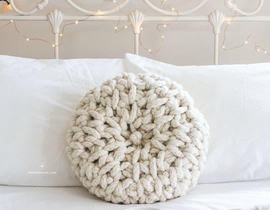 Crochet Fireside Melody Cushion Pattern