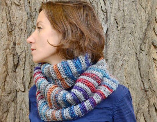 Crochet Forest Fog Cowl Pattern