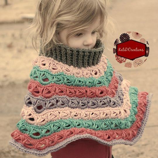 Crochet Marie Louise Poncho Pattern