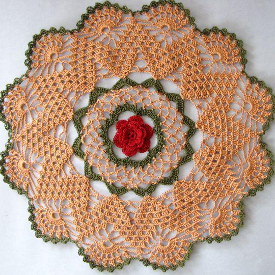 Crochet Mavanee's Roses Doily Pattern
