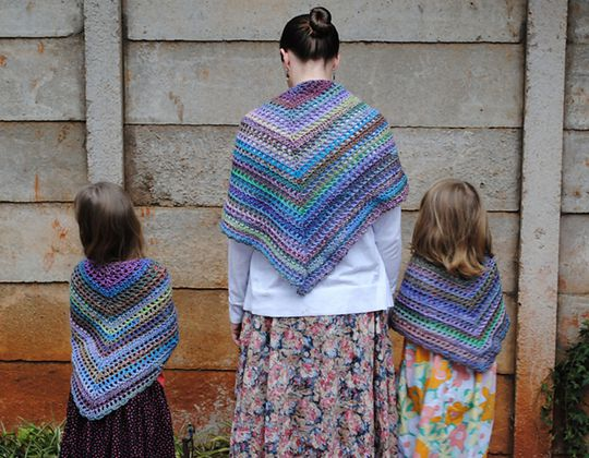 Crochet Morning has broken Shawl Pattern