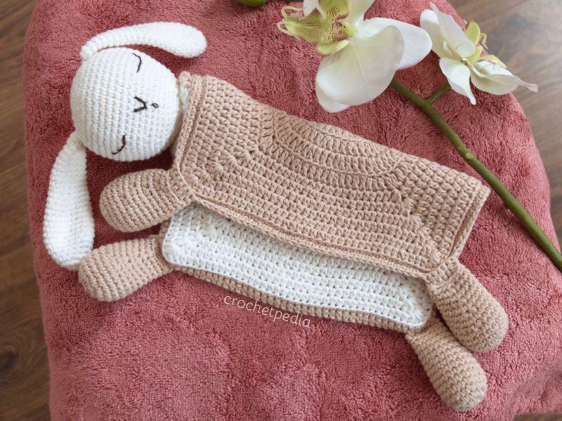 Crochet Sleepy bunny lovey Blanket Pattern