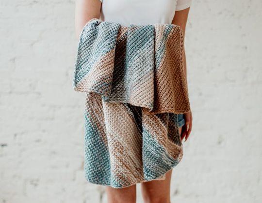 crochet The Bias Tunisian Baby Blanket Pattern