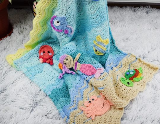 crochet Undersea Sweetness Blanket Pattern