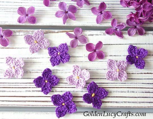 Crochet Lilac Flowers Free Pattern