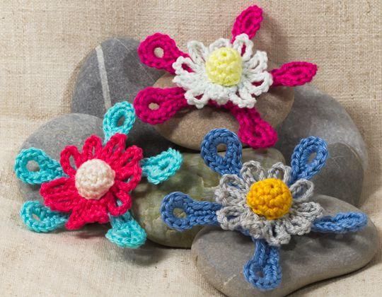 Futuristic Crochet Flower Free Pattern