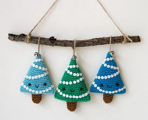 crochet Alberelli Christmas Decoration free pattern