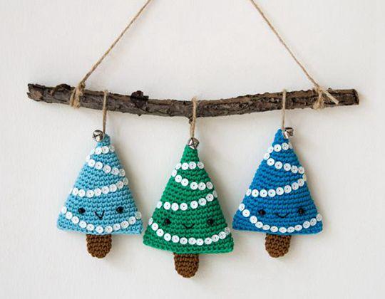 crochet Alberelli Christmas Decoration free pattern