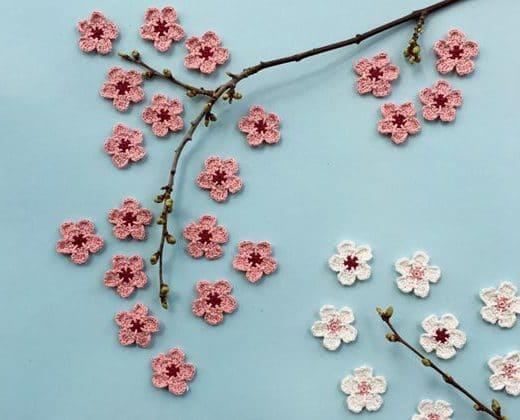crochet Cherry Blossom free pattern