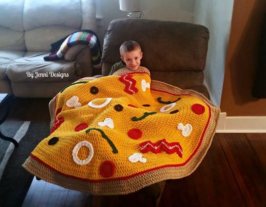 Colorful Chevron Baby Blanket