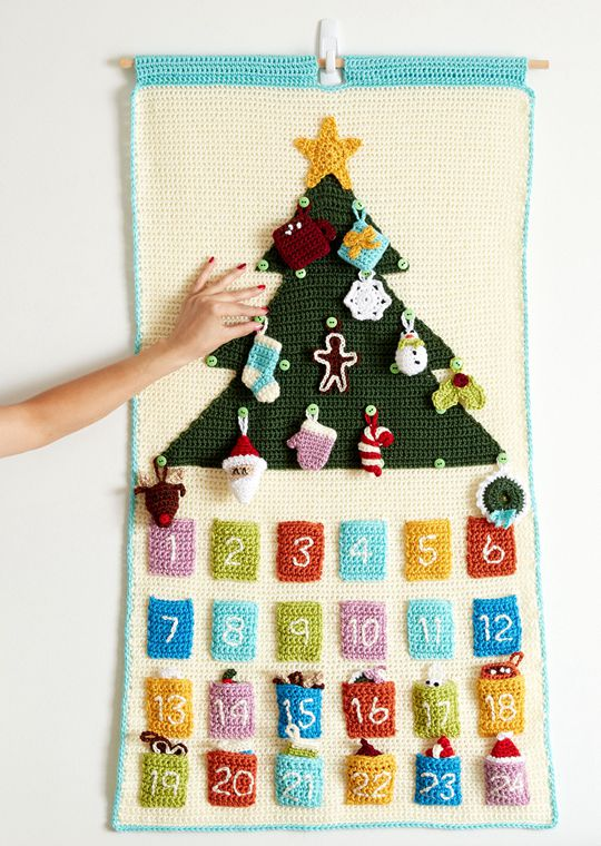 Easy crochet Countdown To Christmas Crochet Advent Calendar free pattern