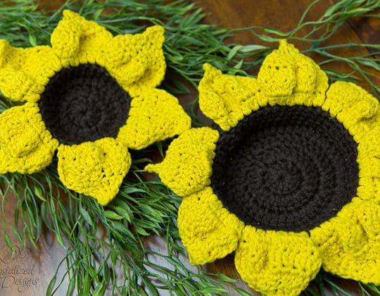 Crochet Flower Nesting Bowls Free Pattern