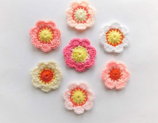 Crochet Spring Bouquet Flowers Free Pattern