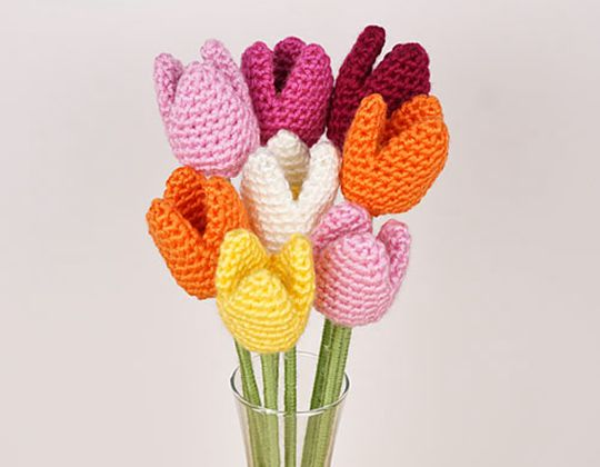 Crochet Tulips Flowers Free Pattern