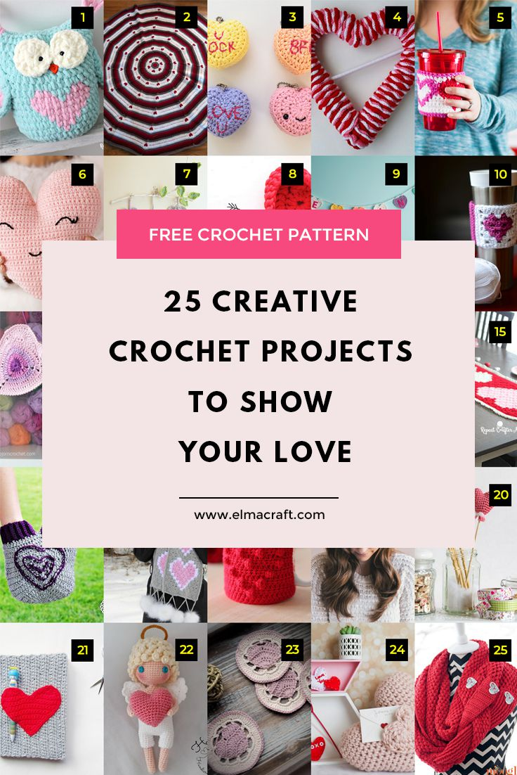 25 Creative Crochet Projects To Show Your Love
