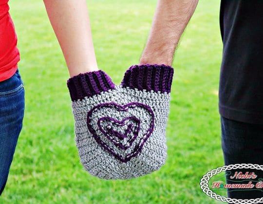 Crochet A SMITTEN MITTEN FOR HOLDING HANDS Free Pattern