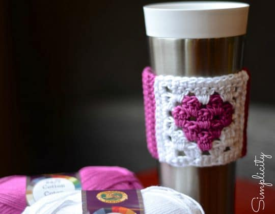 Crochet Love at First Sip Coffee Sleeve Free Pattern