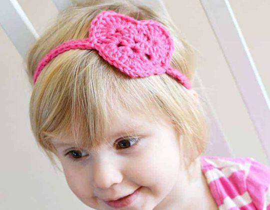 Crochet Heart Headwrap free pattern
