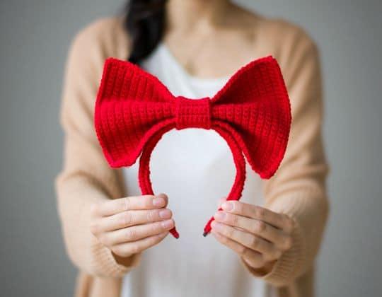Crochet Kiki's Bow Headband free pattern