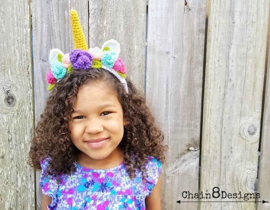 Crochet Magical Unicorn Headband free pattern