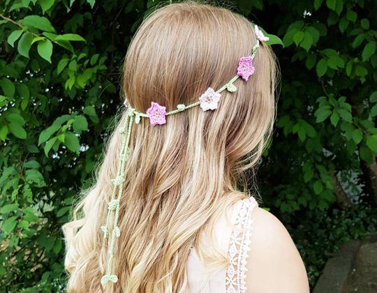 Crochet Midsummer Floral Headband pattern