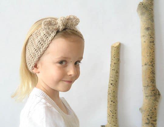 Crochet Naturally Chic Tie-Up Headband free pattern