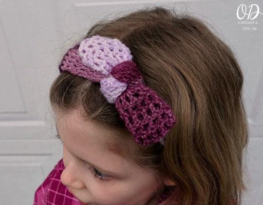 Crochet Plum Dandy Simple Tied Headband free pattern