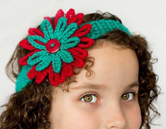 Crochet Season of Giving Headband free pattern