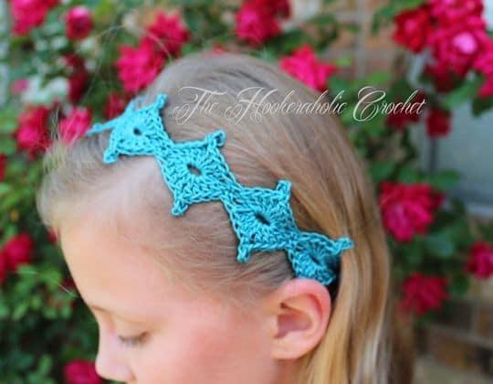 Crochet Spring Diamond Tie Back pattern