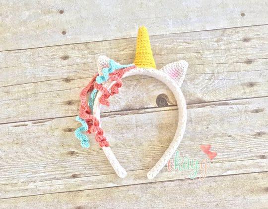Crochet Unicorn Headband free pattern