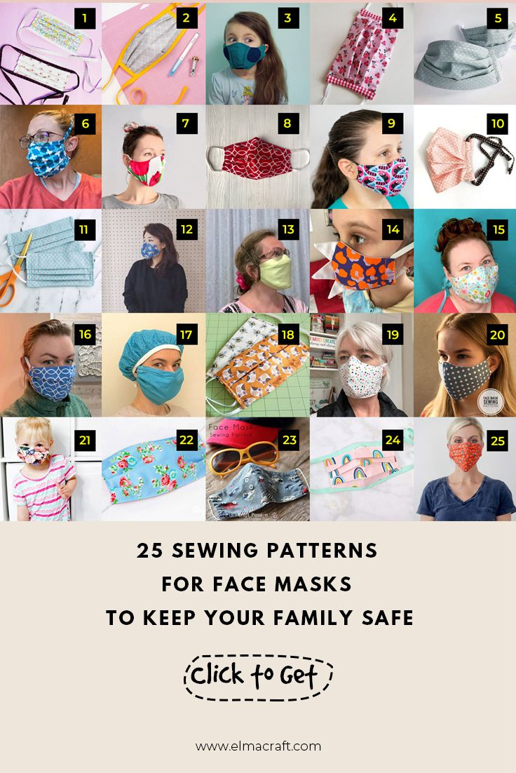25 Sewing Patterns for Face Masks to Keep Your Family Safe