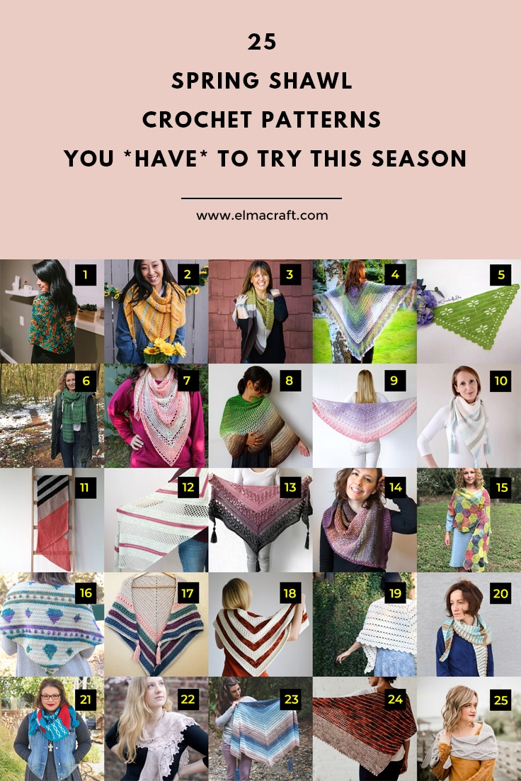 25 Spring Shawl Crochet Patterns You *Have* to Try This Season