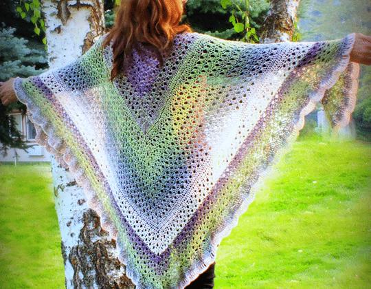 Crochet Amazing Grace Angel Wing Shawl free pattern