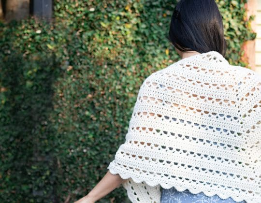 Crochet Dewdrop Wrap free pattern