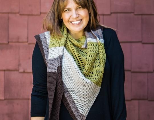 Crochet Flatiron Shawl free pattern