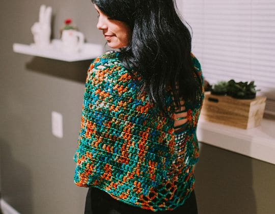 Crochet Galway Shawl free pattern