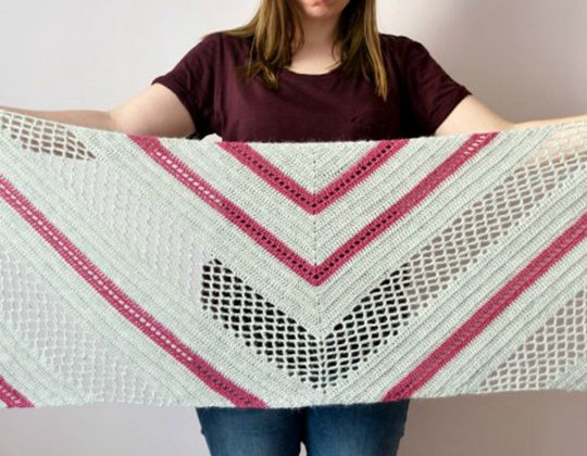 Crochet Spring Solstice Wrap free pattern