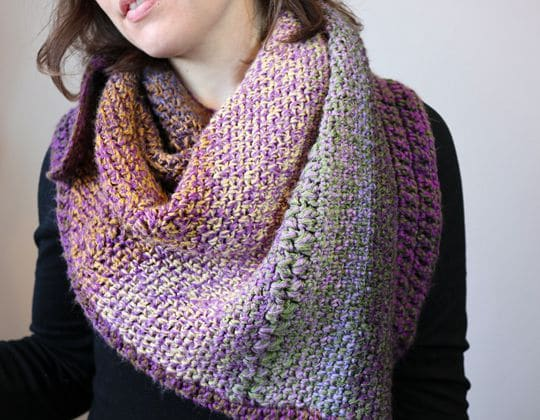 Crochet Sunset Static Shawl free pattern