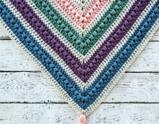 Crochet The Spring Shawl free pattern