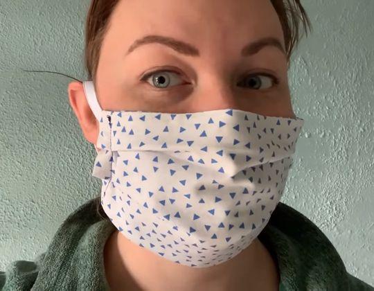DIY Fabric Face Mask free sewing pattern