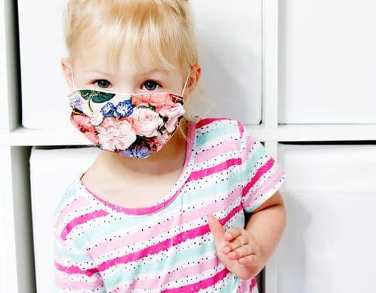 Kids Mask Template free sewing pattern
