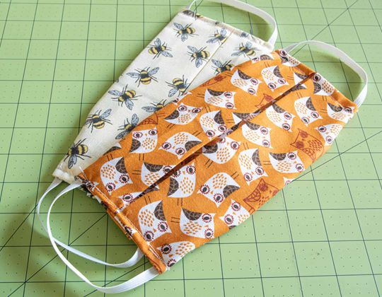 Washable Face Masks free sewing pattern