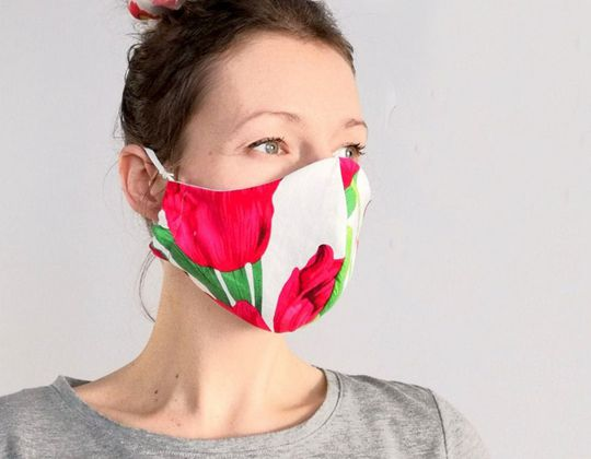 Washable Reusable cotton Mask free sewing pattern