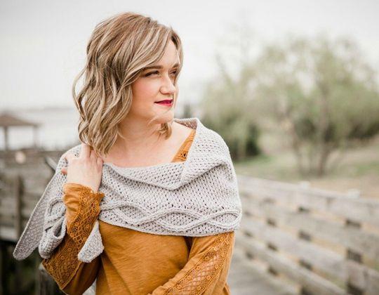 Crochet  Infinity Spring Shawl free pattern