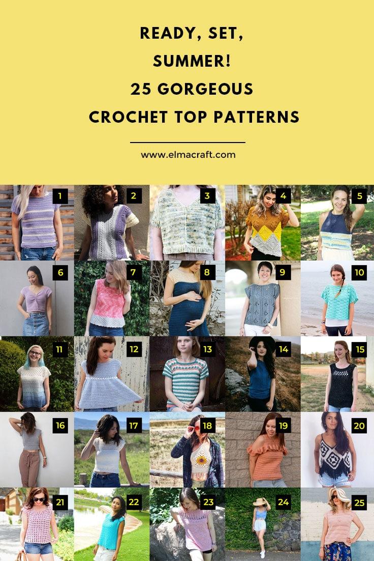 Ready, Set, Summer! 25 Gorgeous Crochet Top Patterns